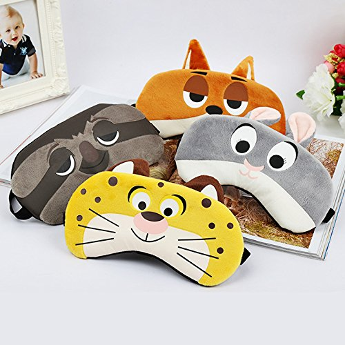 Design Your Own Mask Online (1 PC Cute Sleep Mask - Bunny/Tiger/Fox/Sloth Sleep Mask - Rest Travel Relax Sleeping Aid Blindfold - Cover Eye Patch Sleeping Mask Case)