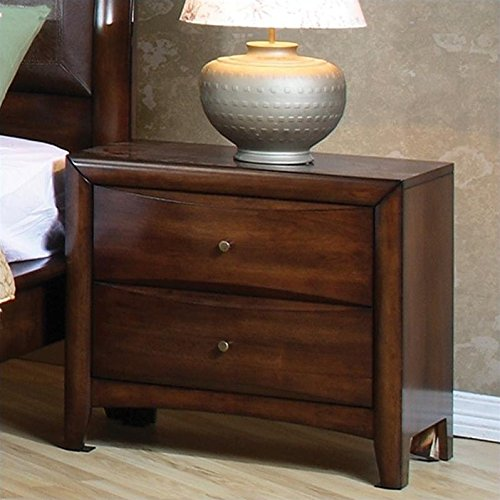 Coaster Home Furnishings 200642 Casual Contemporary Nightstand, Walnut (Style French Wood Clock Table)