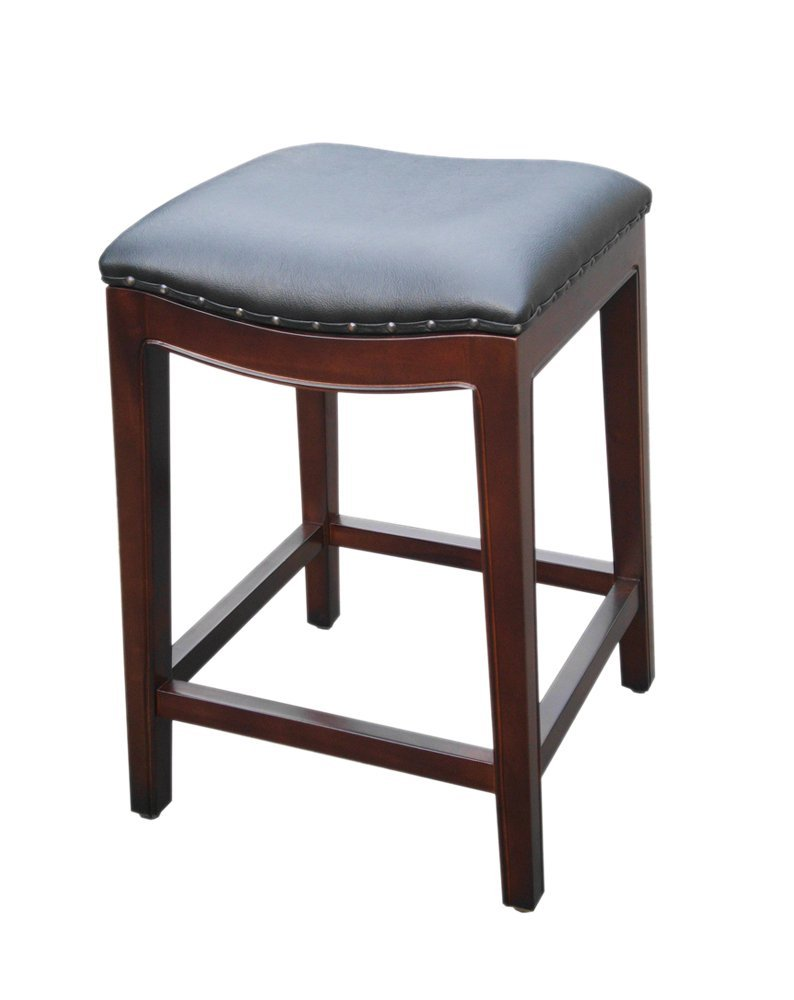 D-Art collection Home Decorative Mahogany Bali Wave Counter Stool