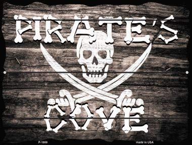 (Pride Plates Pirates Cove Parking Sign P-1810)
