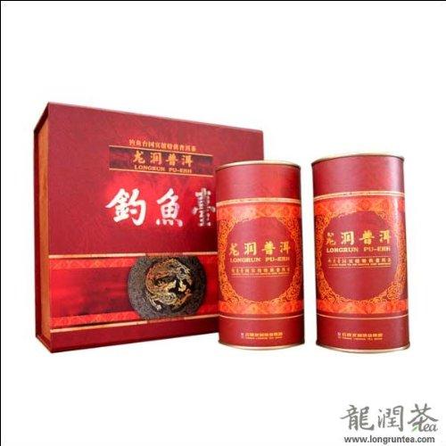 Yunnan Longrun Pu-erh Tea Tribute Package ''Diaoyutai ''(Year 2011 Fermented,150g X2tins) by Yunnan Longrun Pu-erh Tea