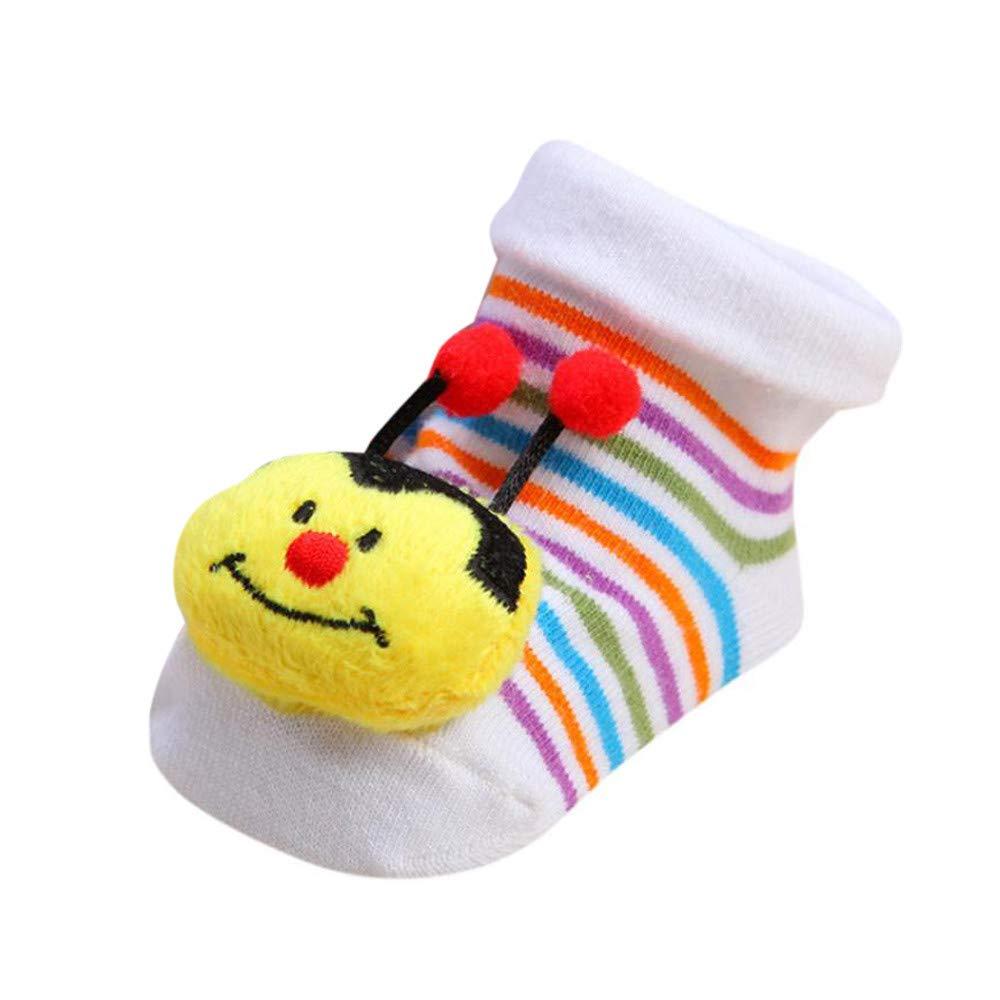 FEITONG Cartoon Newborn Baby Girls Boys Anti-Slip Socks Slipper Shoes Boots(0-12M,B)