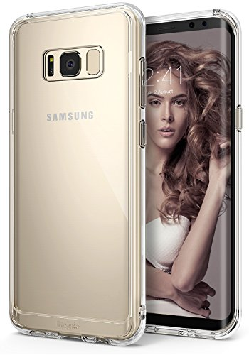 Ringke [Fusion] Compatible with Galaxy S8 Case Transparent PC Back TPU Bumper Raised Bezels Scratch Protection Qi Wireless Charging Compatible Cover for Samsung Galaxy S8 (2017) - Clear