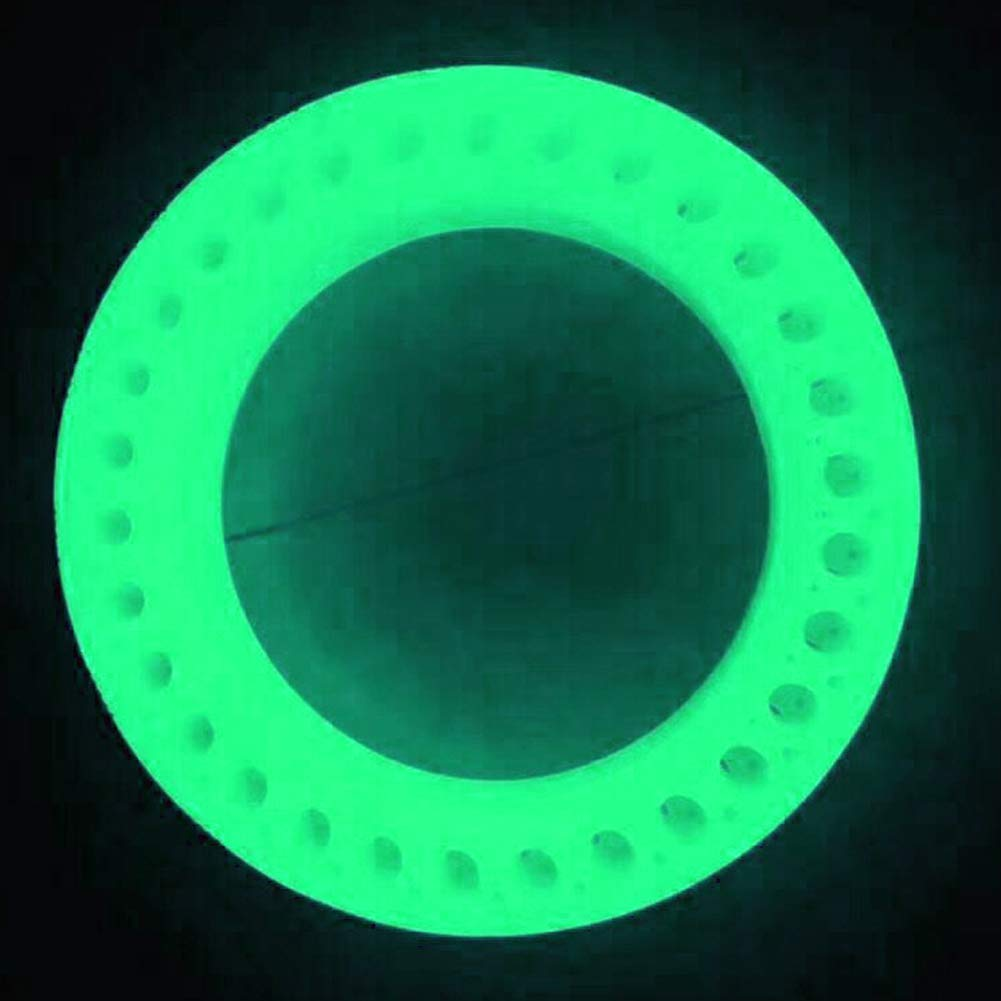 szlsl88 Tyre Shock Absorption Luminous Fluorescent Durable Accessories Solid Wheel Rubber Easy Use Inflate Free Parts Stable Hollow Safety For Xiaomi Scooter M365 Green