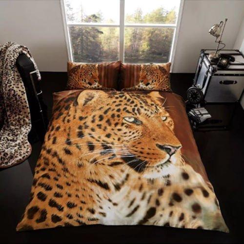 Imprimé animal 3D Couvre-lit en imitation fourrure vison Couverture Couvre-lit doux et chaud en polaire 150x 200cm (Leopard) GC