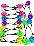 Tara Girls Twinbead Bubble Ball Ponytail Elastics