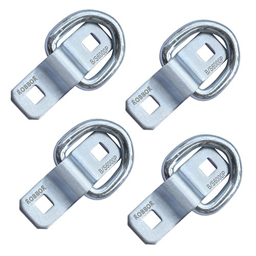 D Ring ,Tie Down Anchor 4 Pk Robbor Surface Mount Tie Down