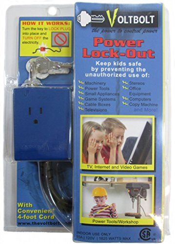 VoltBolt Power Plug Lock-out with Keys