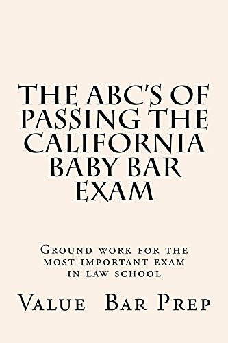 Amazon the abcs of passing the california baby bar exam law the abcs of passing the california baby bar exam law school books exams by fandeluxe Choice Image