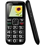 Big Button Senior Cell-Phone Unlocked Dual-Sim GSM Quad Band with FM Radio, Flashlight and SOS Emergency Button for Elderly and Kids