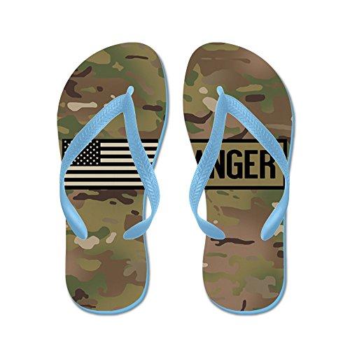 Cafepress Oss Armé: Ranger (camo) - Flip Flops, Roliga Rem Sandaler, Strand Sandaler Caribbean Blue