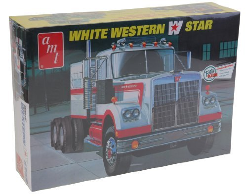 AMT 1:25 Scale Western Star Semi Tractor Kit (White) by AMT