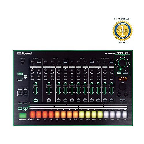 Roland TR-8 Rhythm Performer Drum Machine with 1 Year Free Extended Warranty by Roland