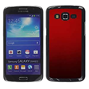 Design for Girls Plastic Cover Case FOR Samsung Galaxy Grand 2 Blood Deep Red Crimson Light OBBA