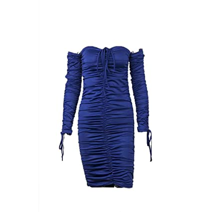 Korowa Suéter de punto de manga larga de mujer sin mangas Vestido de noche de longitud
