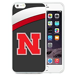 Fashionable And Unique Custom Designed With Ncaa Big Ten Conference Football Nebraska Cornhuskers 8 Protective Cell Phone Hardshell Cover Case For iPhone 6 Plus 5.5 Inch White