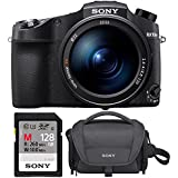 Sony RX10 IV Cyber-Shot High Zoom 20.1MP Camera with 24-600mm F.2.4-F4 Lens with Soft Carrying Case and 128GB SDXC Memory Card