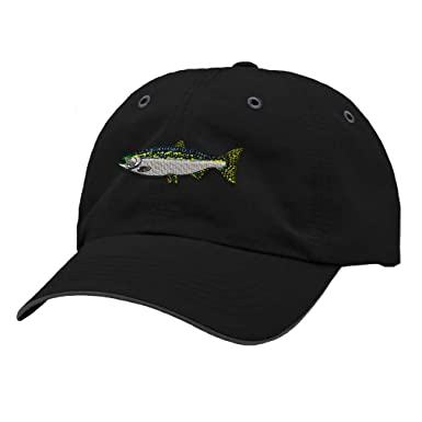 0dbf2b9eb80 Richardson Running Cap Fish Steelhead Embroidery Animal Name Polyester Hat  Hook   Loop - Black
