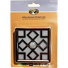 Motion Sensor, Battery Operated Decor LED Night Light - Bronze