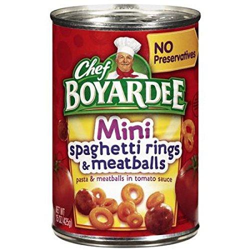 Chef Boyardee Mini Bites - Chef Boyardee Spaghetti Rings W/meatballs, Mini Bites, 15-ounce Units