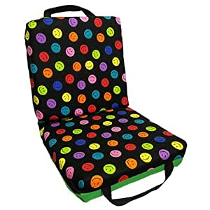 Smiley Double Seat Cushion Green with Flap