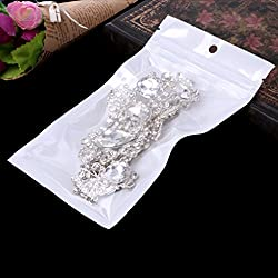 SELFON 100pcs Clear Plastic Bag Grip Self Seal Resealable Ziplock Packing Bags For Jewelry Cosmetics Candy Food Medications Storage ect (9*16CM)