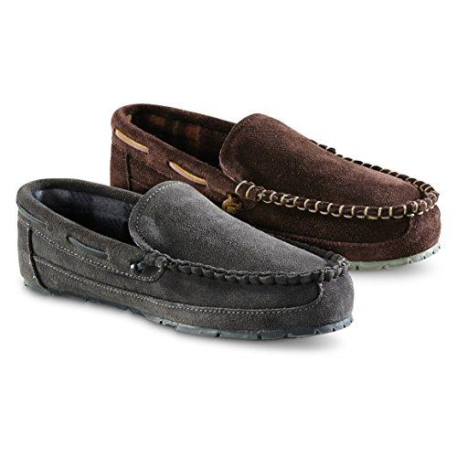 Pantofole Da Guida In Camoscio Marrone Camoscio