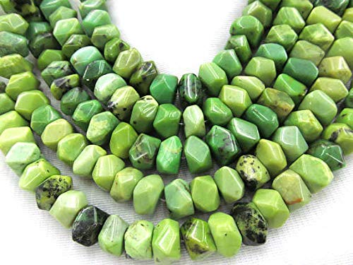 - 8x10mm Natural Chrysoprase Gemstone,rondelle Abacus heishi Faceted Olive Loose Beads,Australia Jade Stone