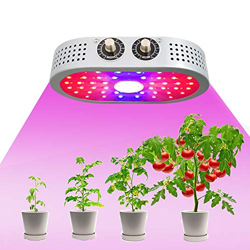 COB LED Grow Light 1100W, Updated Adjustable Veg & Bloom Switch Full Spectrum Growing Lamps Double Chips for Indoor Plants Hydroponics