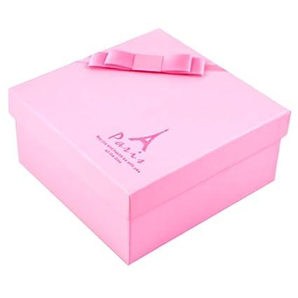 Caja de regalo decorativa cuadrada de papel de regalo Favor cajas de regalo recipiente, París