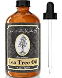 Tea Tree Essential Oil 4 oz. with Detailed User's Guide E-book and Glass Dropper by Essentially KateS.