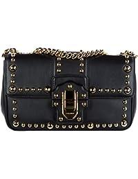 Dolce&Gabbana women's leather shoulder bag original lucia black