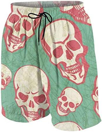 キッズ ビーチパンツ ??柄 スカル ハロウィン サーフパンツ 海パン 水着 海水パンツ ショートパンツ サーフトランクス スポーツパンツ ジュニア 半ズボン ファッション 人気 おしゃれ 子供 青少年 ボーイズ 水陸両用