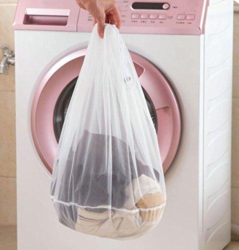 DDLBiz Drawstring Bra Underwear Products Laundry Bags Wash Laundry Care (M) (Wash Drawstring)
