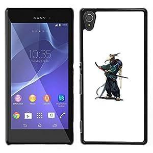 All Phone Most Case / Oferta Especial Duro Teléfono Inteligente PC Cáscara Funda Cubierta de proteccion Caso / Hard Case Sony Xperia T3 // Japanese Smurai Warrior Katana