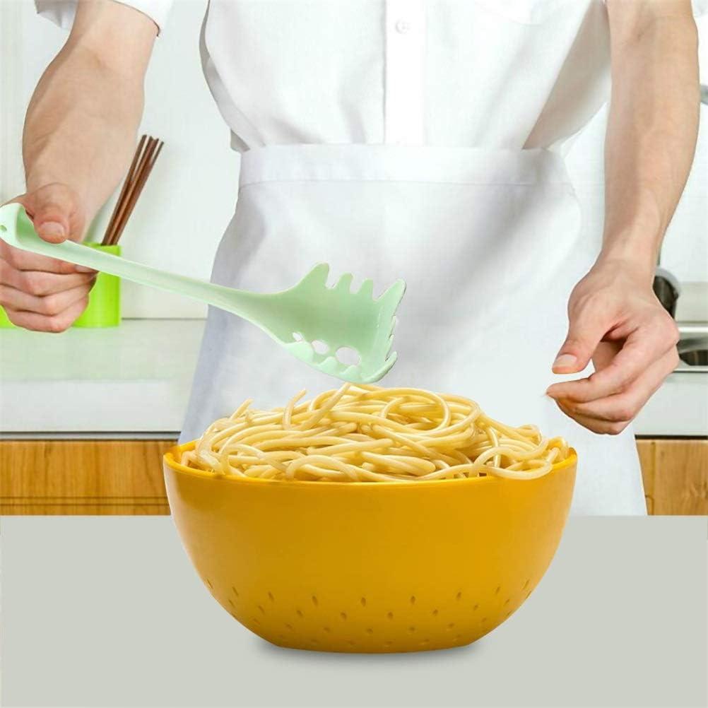 Auplew Cuchara de Espagueti Parte Funcional Utensilio de Cocina Cuchara de Pasta Pasta Tenedor de Espagueti Utensilios de Cocina