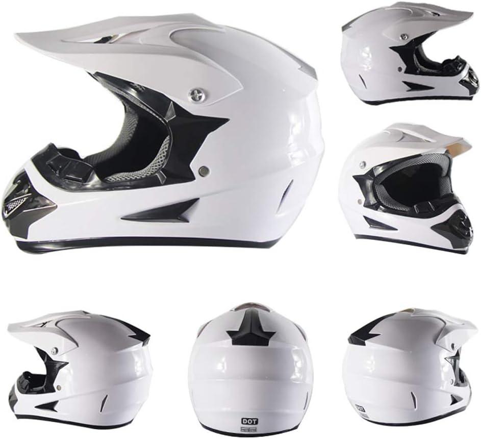 Renn Motocross Fahrradhelm Vier Jahreszeiten universal Handschuhe, Schutzbrille, Schutzmaske, 4-teiliges Set Jugend Kinder Dirt Bike Helme SanQing Motorrad-Sturzhelm