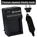 SNS-Nixxell Battery Charger for Casio NP-80 CNP80 Exilim Camera EX-Z115 EX-Z270 EX-Z280 EX-Z330 EX-Z350 EX-Z370 EX-Z550 EX-Z800 EX-ZS5 EX-ZS6 EX-ZS50 EX-ZS100 EX-ZS150 QV-R70 R300 R100 V-R200 + more