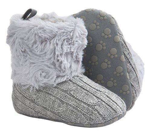 La Vogue Bota Zapatos para Bebés Invierno Primeros Antideslizante Gris