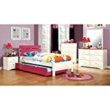 247SHOPATHOME IDF-7626PK-T-5PC Childrens-Bedroom-Sets, Twin, White
