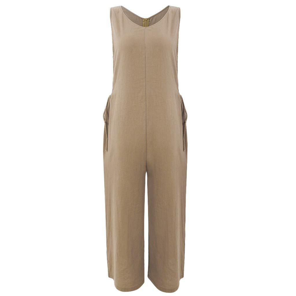 Amazon.com: Alangbudu - Mono sin mangas de algodón suave y ...