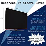 Heavy Duty TV Cover - Full Body Neoprene Protection Sleeve - Fits 47 to 50-inch LED, OLED, LCD, and Plasma Televisions (47-50 inch)