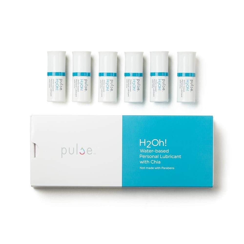 Natural Feminine Moisturizing Water Based Personal Lubricant for Vaginal Dryness H2Oh! by Pulse- FDA Cleared- 6 Pods 6.7 ml Each (Compatible with Pulse Warming Dispenser) by Pulse