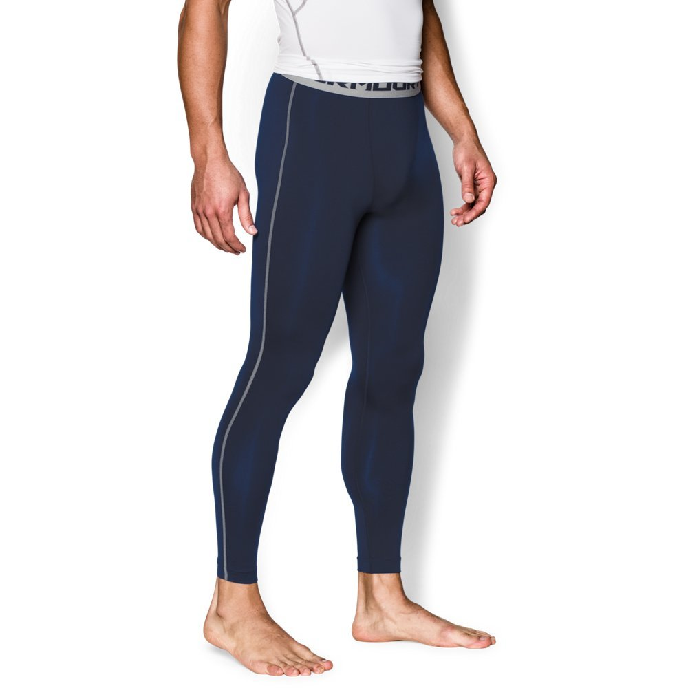 Under Armour Men's HeatGear Armour Compression Leggings, Midnight Navy /Steel, X-Large by Under Armour (Image #1)