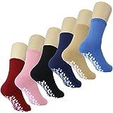 Slipper Socks w/ Gripper Soles - Pack of 6 Pairs