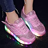 YCOMI Girls Boys LED Roller Shoes with Wheels