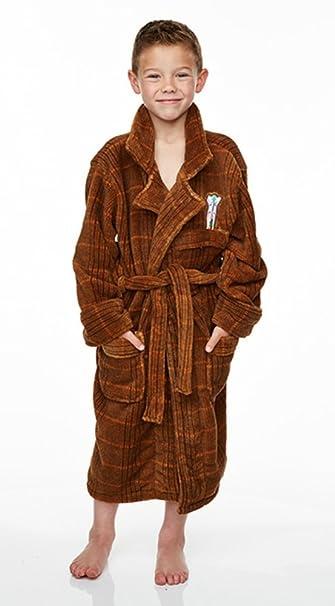 BBC TV undécimo Doctor Who Matt Smith Polar Bata Albornoz (niños/niño tamaños) Marrón marrón Medium: Amazon.es: Ropa y accesorios