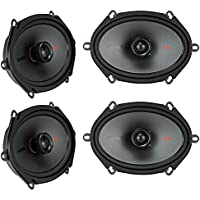 (4) Kicker 44KSC6804 KSC680 6x8 600 Watt 2-Way Car Stereo Speakers KSC68