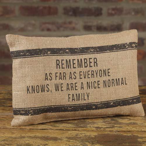- Nice Normal Family 12 x 8 Burlap Decorative Throw Pillow