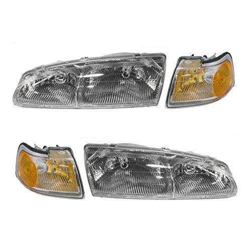 Headlight & Corner Light Kit Set of 4 for 96-97 Ford Thunderbird Mercury -